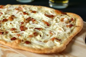 Pizza façon tarte flambée