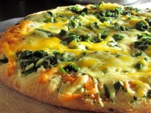 Pizza au mesclun
