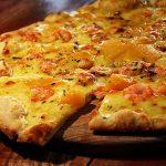 Pizza aux mangues