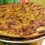 Pizza au canard et aux pommes